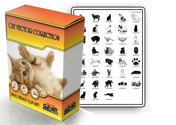 cat vector collection