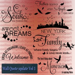 wall quote update vector collection vol 1