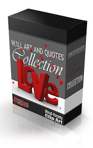 love wall art & quote vector collection