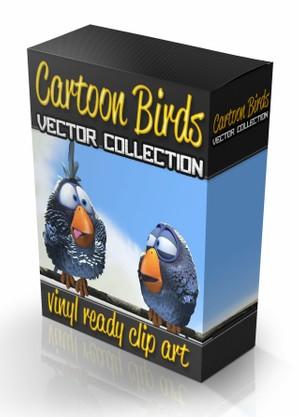 funny cartoon bird collection