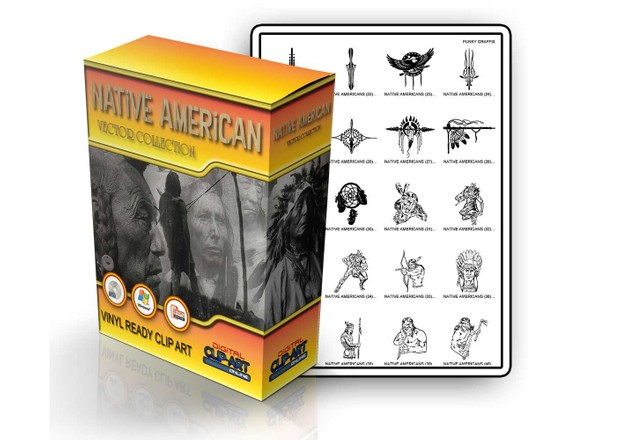native american  vector collection