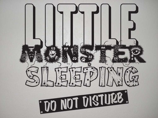 little monster vector wall art image