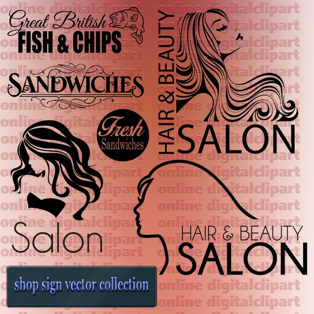 shop sign vector collection