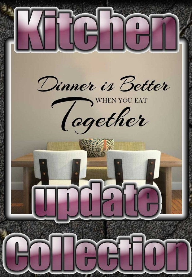 kitchen wall art & quote update collection