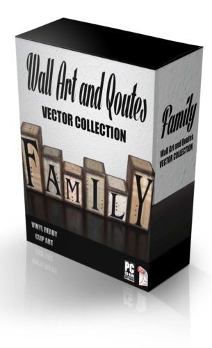 FAMILY WALL ART & QUOTES  VECTOR COLLECTION