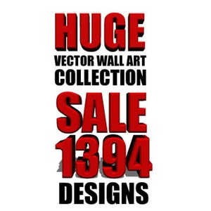 1394 wall art vector collection