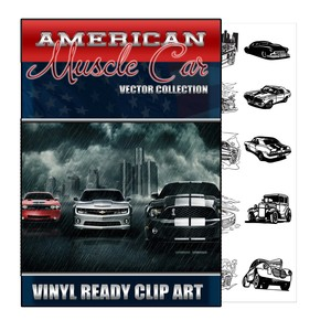 AMERICAN MUSCLE CAR VECTOR COLLECTION