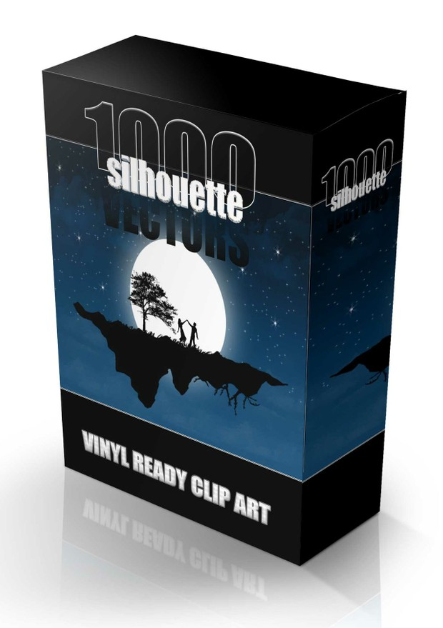 1000 silhouette vector collection