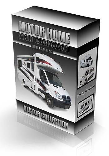 motorhome & caravan decal vector collection