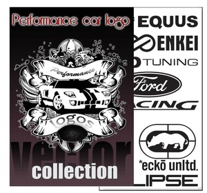 performance car logo vector collection