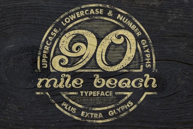 90 Mile Beach Font