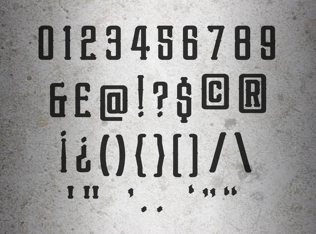 Benchmark Font