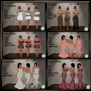 6 DRESS COLLECTION SAVE 3$ BUYING ALL 6!! NO RESELL!!