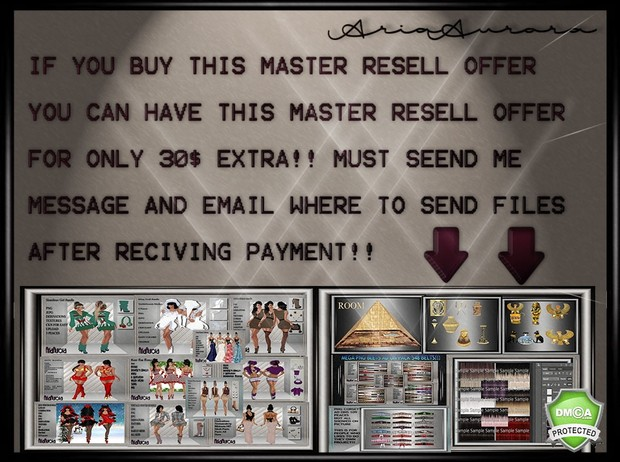 MASTER RESELL OFFER 2017(1) ONLY TO 5 PEOPLE!!!