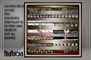 146 INDIA BELTS AD ONS RESELL RIGHT ONLY 4 PEOPLE!!