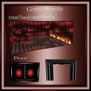 Gothic Mesh Bundle No Resell!! 1 Room& 10 Furniture,1 Sitting Pose!!