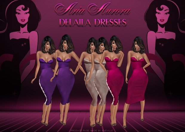 Delaila Dresses (Sis3D)+PSD/ Resell Right!