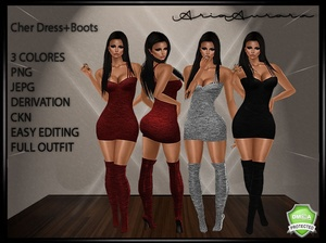 Cher Dress+Boots, Resell Right!!