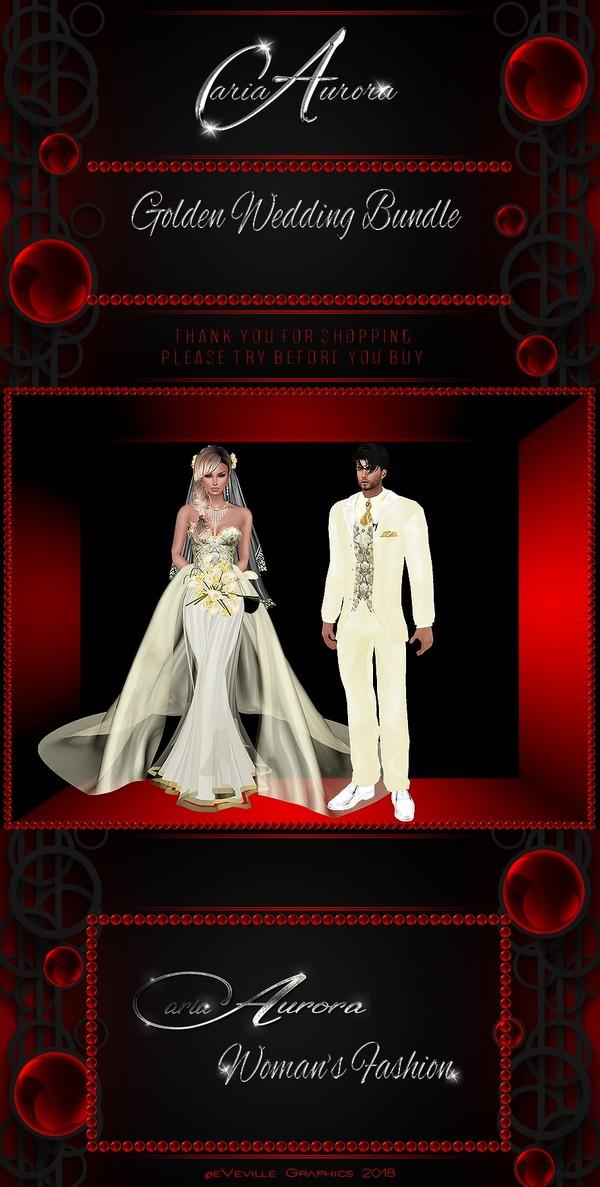 Golden Wedding Couple Bundle No Resell