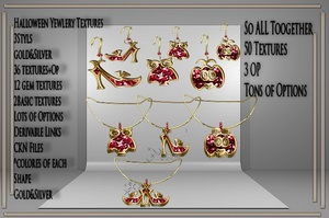 Halloween BIG Jewelry Textures Resell Right!!!