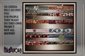 101 GEISHA BELTS AD ONS NO RESELL!!