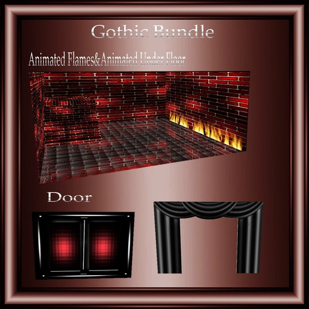 Gothic Mesh Bundle Resell Right Only 5 People!! 1 Room& 10 Furniture,1 Sitting Pose!!