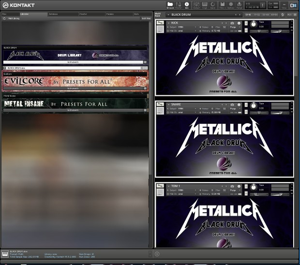 BLACK DRUM - Metallica Drum Library | Kontakt 5
