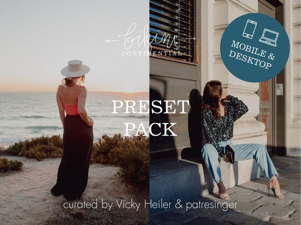 bikini confidential presets by Vicky Heiler - MOBILE & Desktop