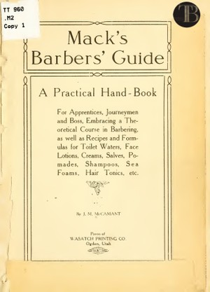 Macks Barber Guide - TotalBarber Vintage Books