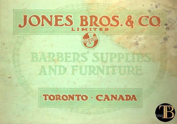 Barber Supplies Canada  - Jones Bros -  TotalBarber Vintage Books