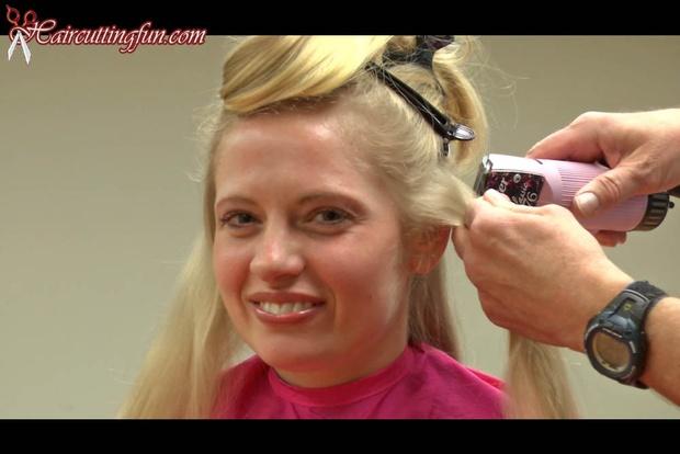 Blonde Sara's Long Hair to Pixie Haircut - VOD Digital Video on Demand Download