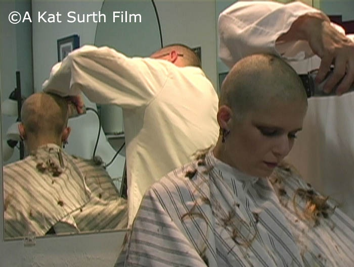 Videos of women shaved bald something