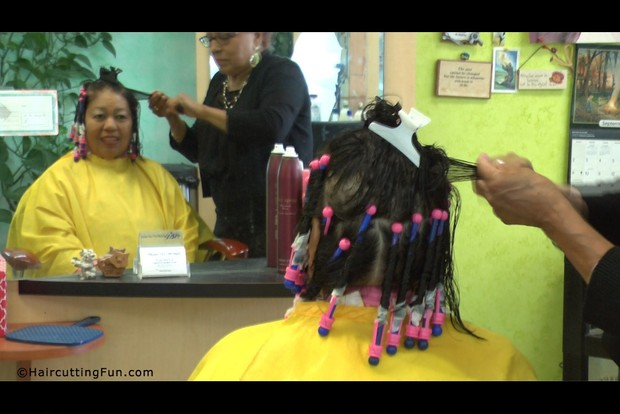 Hair Perming With Pen Stick Perm Rods At Carmens Salo