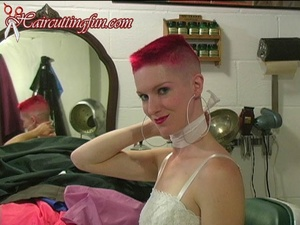 Red Flat Top Kat's Many Salon Capes - VOD Digital Video on Demand