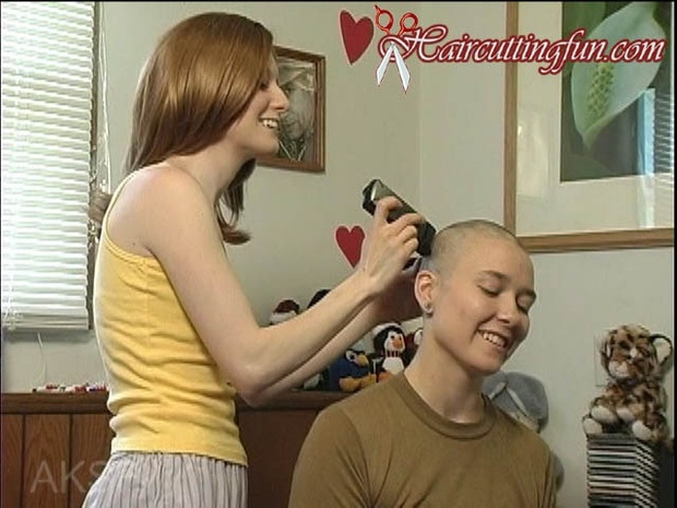 Hannah's Buzzcut and Razor Shave - VOD Digital Video on Demand
