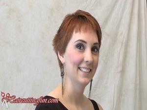 Elizabeth's Short Haircut with Fringe - VOD Digital Video on Demand