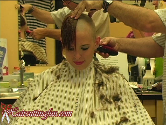 Video of woman getting head shaved opinion