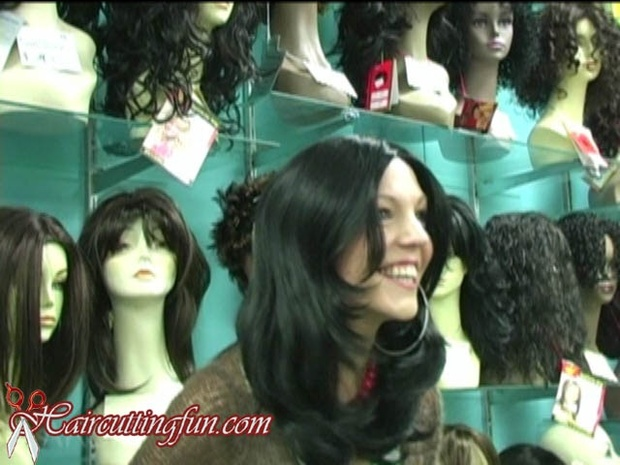 Wig Play with Bald Headed  Woman Pistol Vegas
