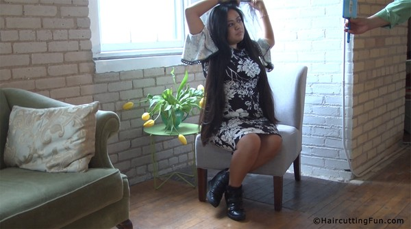 Veronica Braids Her Waist Long Hair + Her Haircut Digital Video on Demand VOD