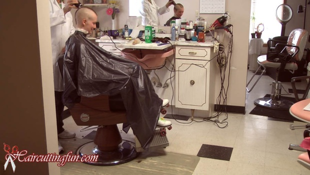 Winning Shave - Female Head Shave in Stages