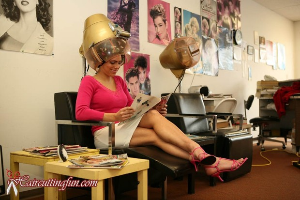 Photos of Leah's Foam Perm and Roller Set in Salon