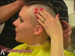 Alexandra's Mohawk Haircut