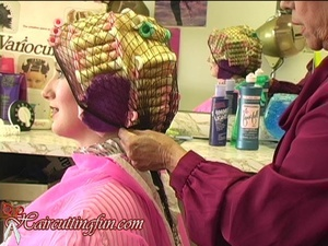 Kat's Bleach and Variocurler Set at Beauty Salon - VOD Digital Video on Demand