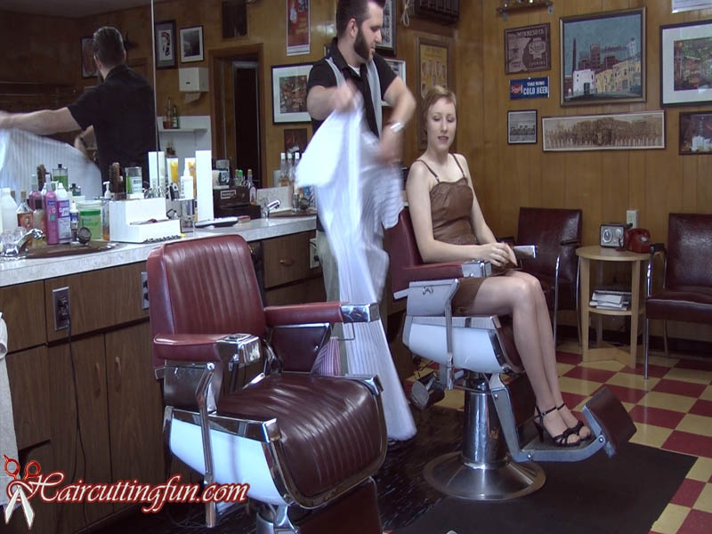 Girls have head shaved by barber