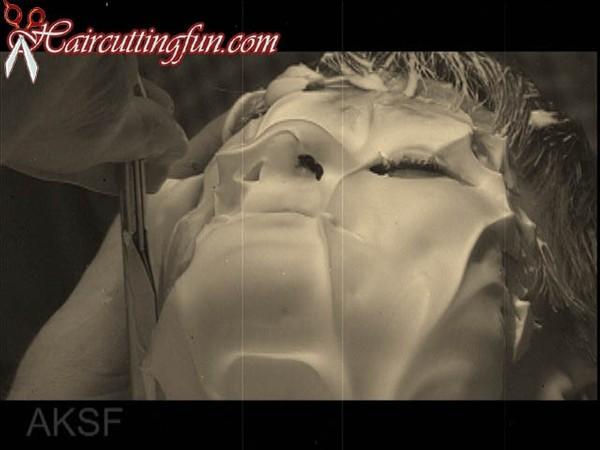 Natatlie's Face Shave in a Barbershop - VOD Digital Video on Demand