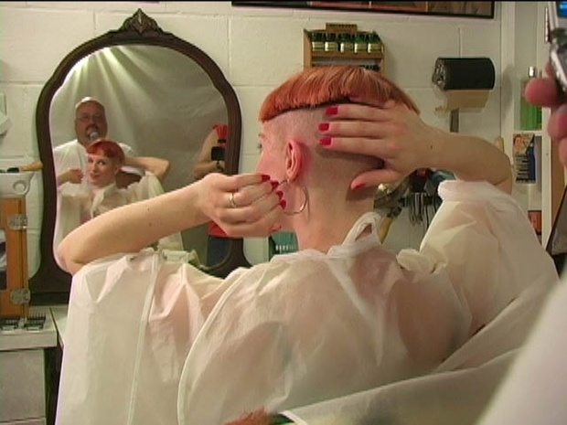 Kat's Head Shave in Stages - VOD Digital Video on Demand