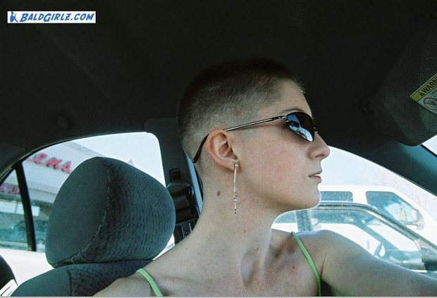 71 Photos of Kat's Bald Fade and Before and After