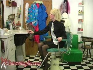 Kat's Self Blonde to Brunette Haircoloring in Shirt & Tie - VOD Digital Video on Demand