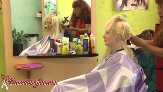 Kat's Blonde to Brunette Haircoloring at Carmen's - VOD Digital Video on Demand