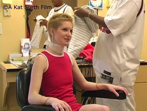 Kat's Crown Haircut in Barbershop - VOD Digital Video on Demand